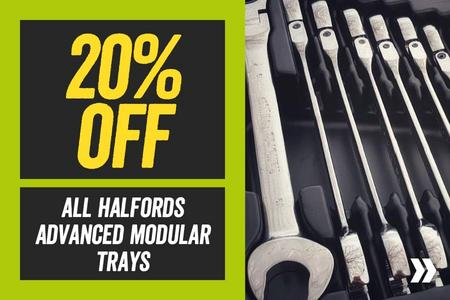 20% Off All Halfords Advanced Modular Trays